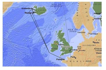 Carte skippers d'islande