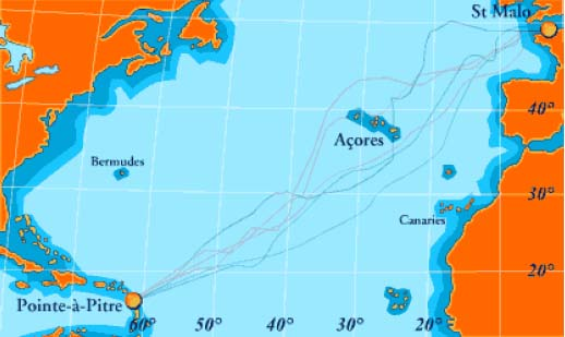 Carte route du rhum